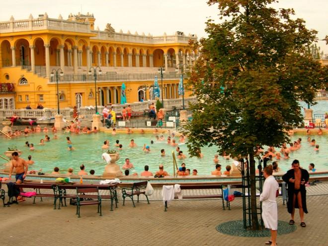 Hungary, Budapest, Szechenyi thermal baths